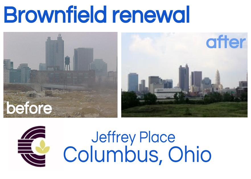 Before and after brownfield remediation