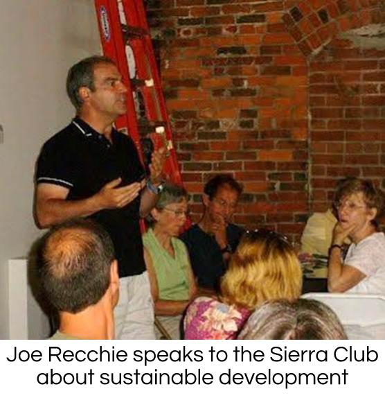 Joe Recchie backs environmental stewardship