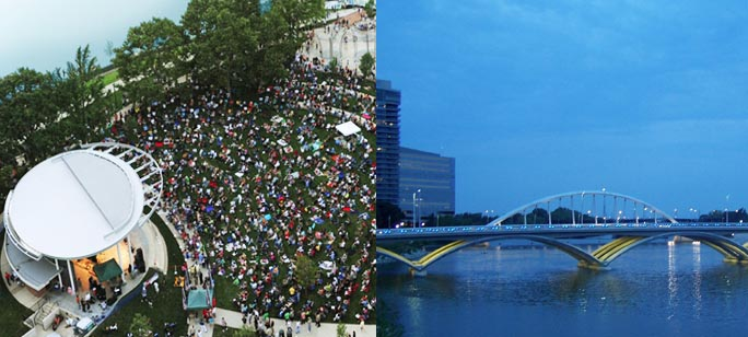 James B. Recchie Design Award Winners: The Scioto Mile and Scioto River Bridges
