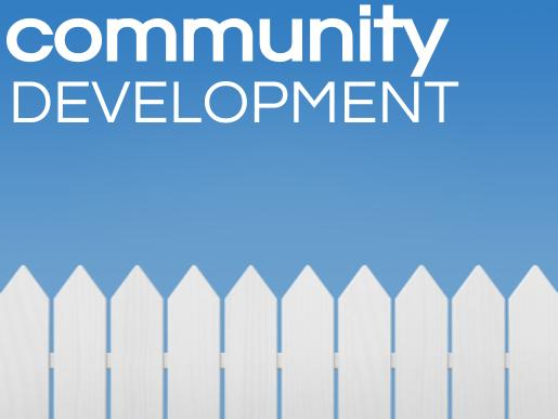 Community development, left aligned