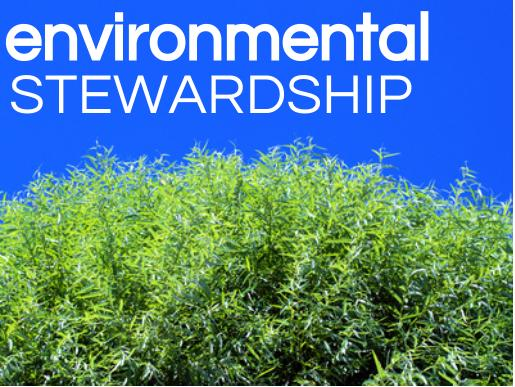 environmental stewardship, PP objectives, left-aligned