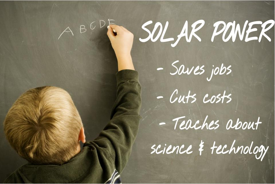 Solar power in schools