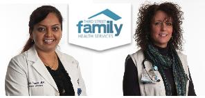 Hawkins Medical Center is staffed by a doctor, Ujwala Pagedar (left), and nurse, Lori Farver.