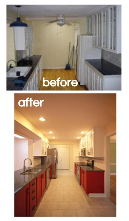 Before and after images of eastmoor revitalization