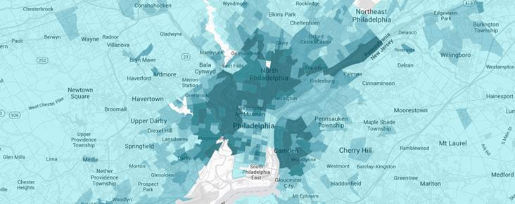 Philadelphia and surroundng areas