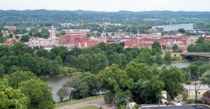 A panoramic view of Marietta, Ohio.